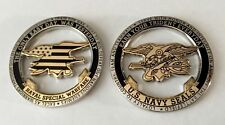 USN NAVY SEALS EARN YOUR TRIDENT NSW SEAL TEAM CUT OUT CHALLENGE COIN CPO DEVGRU