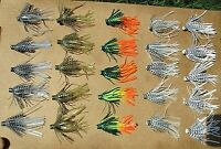 25ct ASSORTED 2.5 inch SILICONE Hula SKIRTS Pro Style Push-On Bass Spinnerbaits