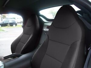 SATURN SKY 2007-2010 BLACK S.LEATHER CUSTOM MADE FIT FRONT SEAT COVER