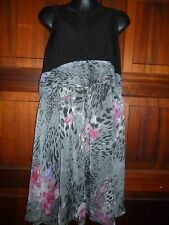 Ladies Black & Print Dress size XXL fit 16/18 by Crossroads