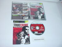 TRUE CRIME: STREETS OF L.A game complete Platinum Hits - Original Microsoft XBOX