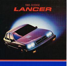 1985 Dodge LANCER Brochure / Catalog: ES, TURBO