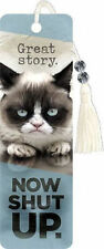 GRUMPY CAT BOOKMARK - BRAND NEW - BOOK GIFT READING FUNNY QUOTE 6279