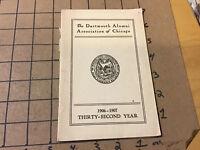 original Dartmouth Alumni association of CHICAGO - members - 1906-1907 -- 20pgs