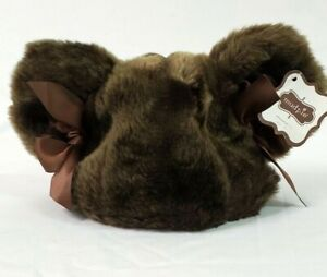 Mud Pie Baby's Faux Fur Mouse Ears Hat 0-12 Months NWT FREE SHIPPING