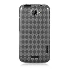 HTC  One X / One XL / Elite Case Clear Checker TPU  Crystal Skin Phone  AT&T