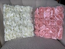 Ling's Moment Artificial Blush & Ivory Roses 50pcs -
