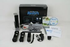 En Caja Negro Nintendo Wii (PAL) Sports Resort Pack Consola bulto ~ Free Uk P + P