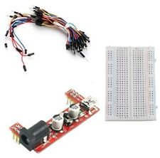 MB102 Power Supply Module 3.3V 5V+MB102 Breadboard Board 400 Point+ Jumper cable
