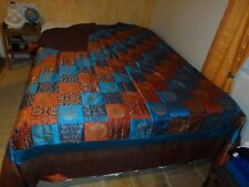 GRAND DESSUS de LIT INDONESIEN PATCHWORK/Satin