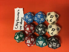 10x 10 Random Spindown dice d20 mtg Magic the gathering die CNY