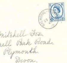 R279b 1965 GB ROYALTY *Balmoral Castle*Crown CDS Scotland Wilding Cover Plymouth