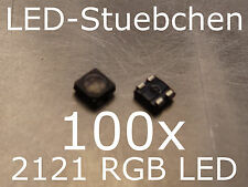 100x 2121 RGB LED SMD Black