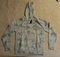 J. Crew Men's Garment-Dyed Tie-Dye Pullover Hoodie SC4 Chateau Blue Small NWT