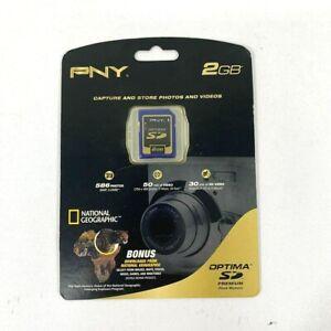 PNY Optima 2GB SD Card P-SD2GB-FS Ultra High Speed Memory