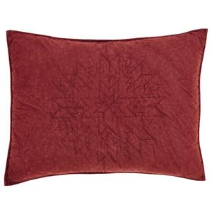 "Cheyenne American Red Standard Pillow Sham 27x21"" Distressed Red"