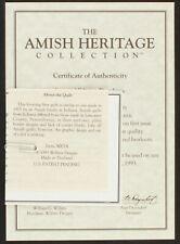 30014 Caroline Original CoA & Papers | Amish Heritage Collection
