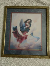 Pre-Owned Home Interiors Vintage Wall Picture Of Angel Holding A Lamb