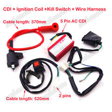 Chinese Dirt Pit Bike Kill Switch Racing Ignition Coil Wirings Loom Harness CDI