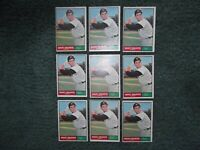 9-Card LOT 1961 61 TOPPS BASEBALL SET ROCKY COLAVITO #330, VG-EX