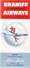 BRANIFF INTERNATIONAL AIRWAYS TIMETABLE JANUARY 1961