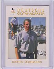 1996 DEUTSCHE OLYMPIAKARTEN ~ JOCHEN SCHUMANN OLYMPIC CARD #26 ~ SAILING