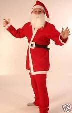 Santa Suit Claus Xmas Christmas Fancy Dress Panto Costume P5539