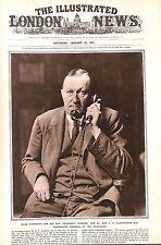 Telephone.1921.ILN.A.H.Illingworth.Postmaster-General.Portrait.Menswear