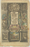 Apostel JESUS CHRISTUS großer Original Bibel Kupferstich um 1650 altkoloriert