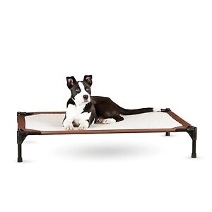 K & H Pet Dog Raised Frame Bed - No power - Self Warming Heating Pet Cot -Medium