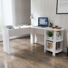 L-Form Eckschreibtisch Computertisch Schreibtisch Arbeitstisch Bürotisch Weiß