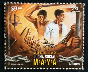 "MEXICO 2021 ""THE MAYAN WAR"" Political fiasco, ridiculed issue self adh. stamp NH"