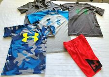 Lot of 5 Boy's Under Armour t Shirts & Shorts Size 7 -  XS