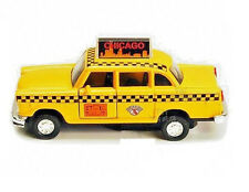 Chicago Illinois Old Yellow Checker Taxi Cab Diecast Car Model Metal New 5 inch