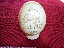 Vintage Plakie 1940s Plastic Baby'S Nest Egg Piggy Bank Decor Collectible