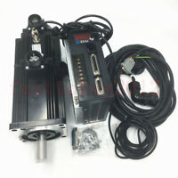 1KW AC Servo Motor Driver kit with Brake 4NM NEMA34 220V 2500RPM for CNC Milling