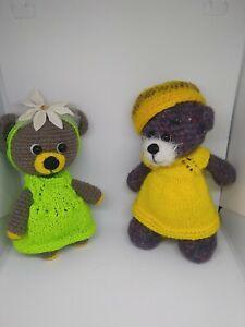 Handmade soft toy set, Bear friends