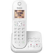 Panasonic KX-TGC420GW weiß Schnurlostelefon mit Anrufbeantworter Weckfunktion