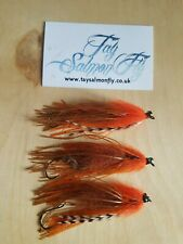 3x Orange Rubberleg Intruder Salmon Steelhead Fishing Flies