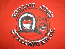 Eskimo Joe's Bar Restaurant Stillwater Oklahoma OK Orange Graphic T Shirt S