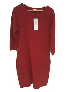NEW, CAPTURE, Size M, Textured,  Red,  Knit Dress, BNWT