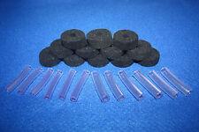 Negro de Lana platillos Fieltros Mangas de 35mm X 12mm + 6mm y 8mm para kits de batería Conjunto de 24