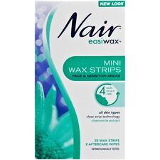 Nair Easiwax Mini Wax Strips 20 chamomile extract that require no preparation
