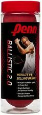 PENN Ballistic 2.0 Racquetball 3 Ball can (Red) Racquetballs - ship label on can