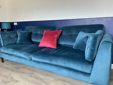 Sofology Teal 4 Seater Sofa No Postage Collection Only