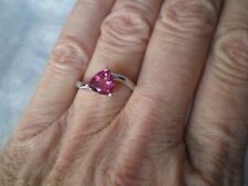 Mystic Pink Topaz ring, Size N/O, 1.37 carats, in 2.4 grams of 925 Sterling Silv