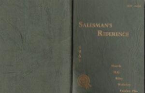 B.M.C.SALEMANS 1961 REFERENCE BOOKLET, AKD 1003B.