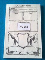 Heroquest/RPGWarhammer Quest - Character Sheet - HQ350