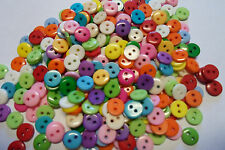 LOTTO  STOCK  100 BOTTONI  RESINA  COLORI MISTI  MM 9  BUTTONS CUCITO CREATIVO