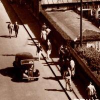 Antique 1920s RPPC Princess Parade Bridlington Piers People Cars Postcard UK